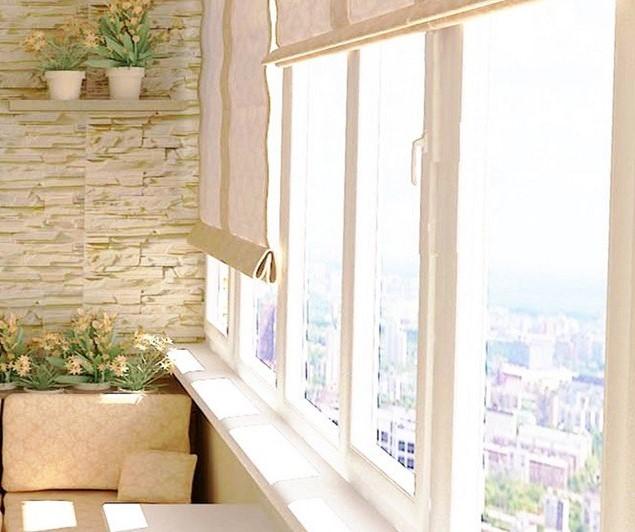 распашной алюминиевый балкон фото