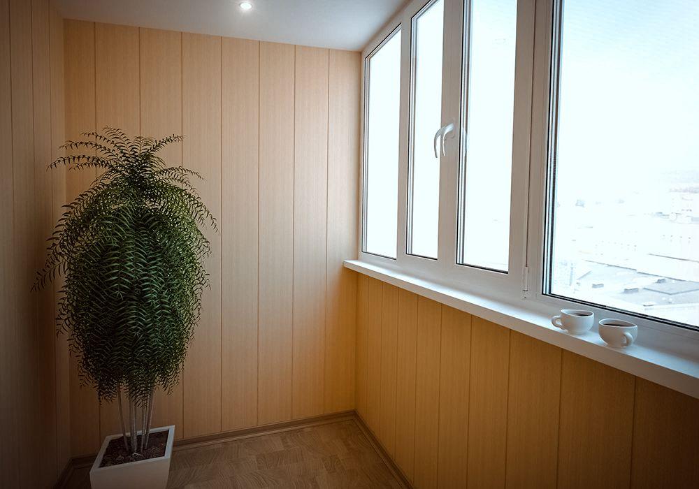 отделка балкона стеновыми панелями фото