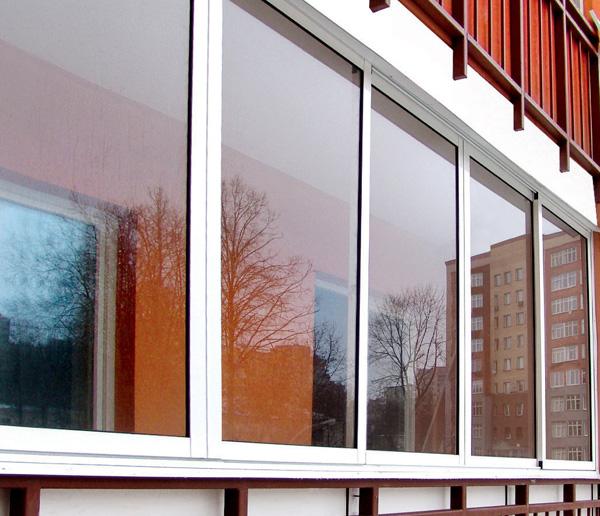 алюминиевые окна на балкон фото