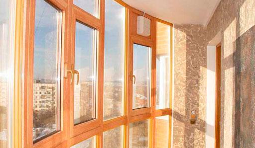 Деревянный профиль на балкон - фото