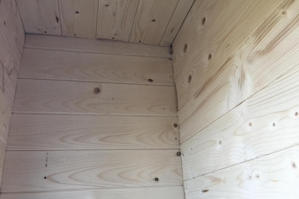 Обшивка балкона вагонкой из хвои фото