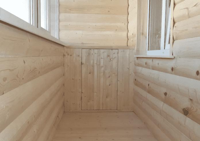 отделка балкона имитацией бруса фото