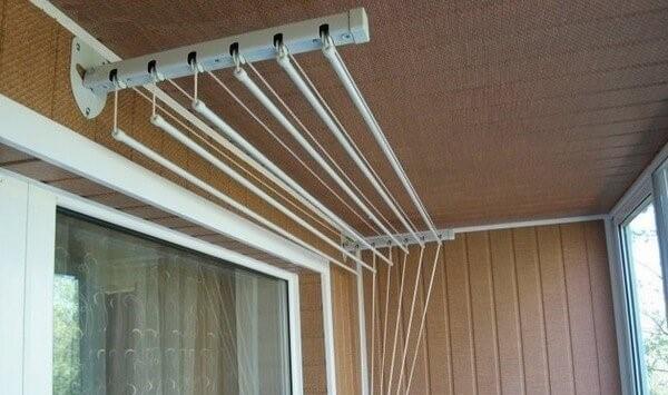 сушилка на балкон потолочная фото