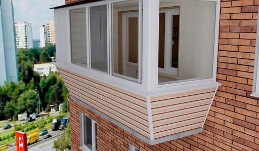 Отделка балкона сайдингом - фото
