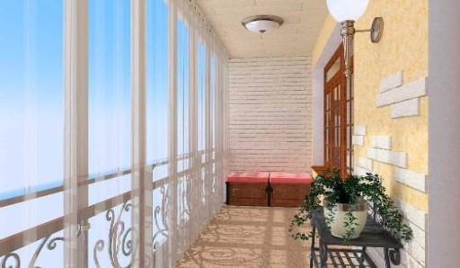 Обшивка балкона евровагонкой - фото