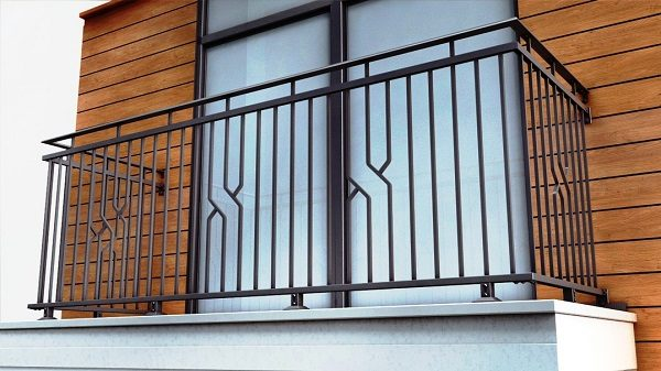 переварка перил на балконе фото