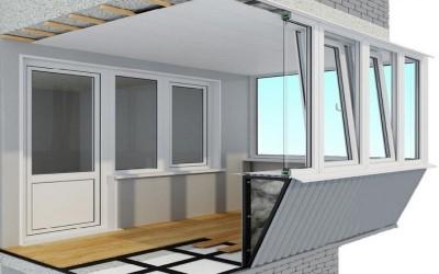 остекление балкона с выносом фото