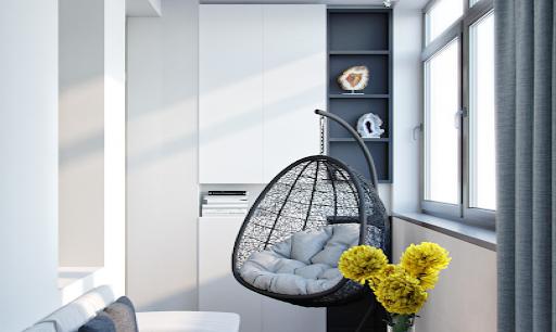 Встроенные шкафы на балкон - фото
