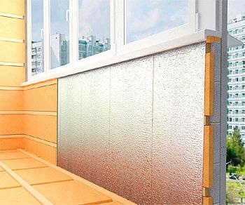 утепление балкона пленкой фото