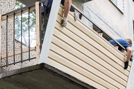 отделка балкона сайдингом инструкция фото