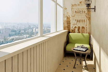 Как обустроить балкон - фото