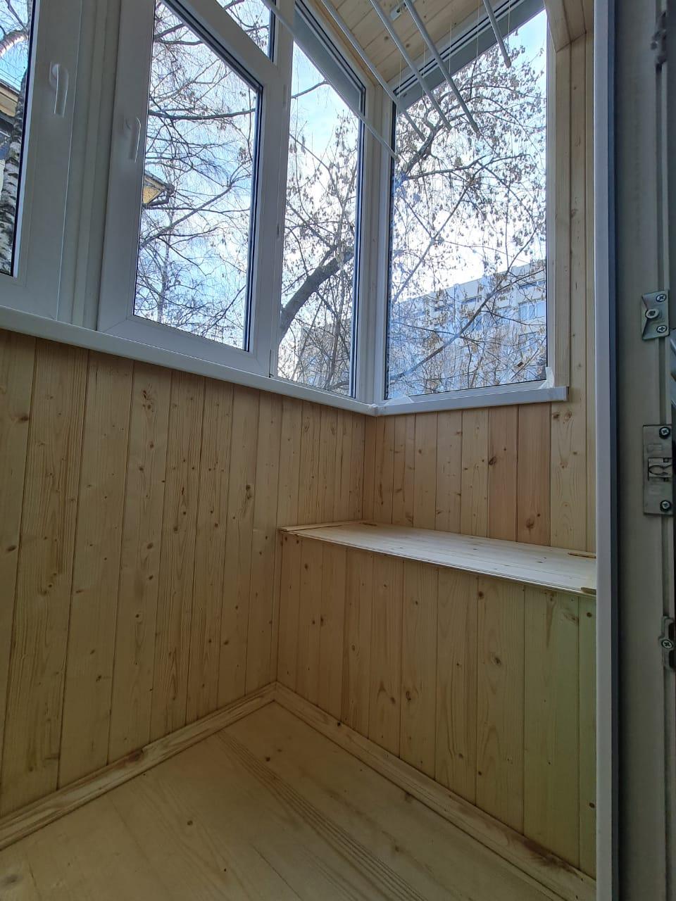 Остекление, утепление и обшивка балкона, установка мебели Курашова, 32 - фото