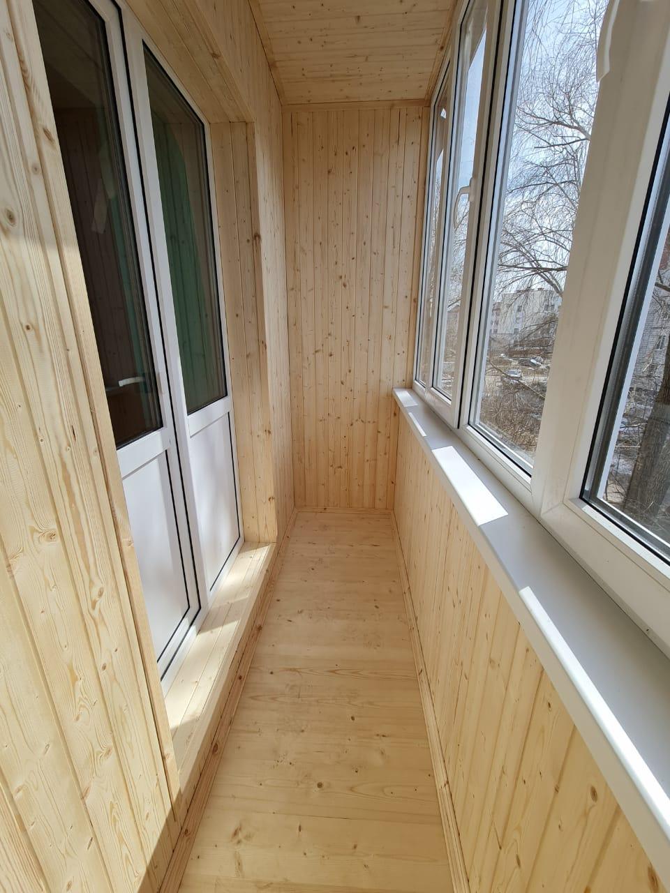 Отделка балкона вагонкой Лазерева, 5 - фото