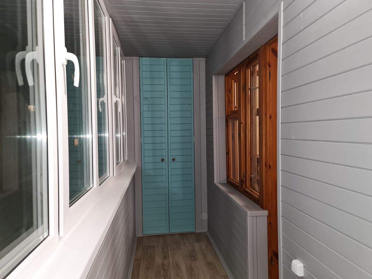 Обшивка балкона Дубравная 49 - фото
