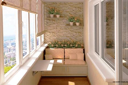 Какие есть материалы для отделки балкона - фото