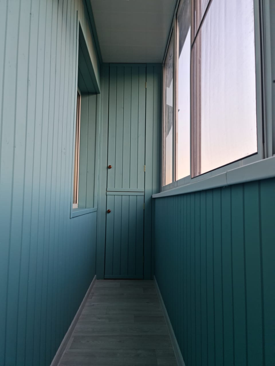 Балкон под ключ с остеклением ул. Серова 35 - фото