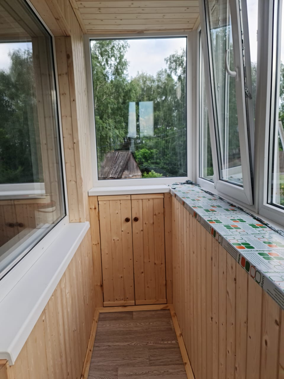 Внутренняя и внешняя обшивка балкона с. Айша, ул. Светлая 10 - фото
