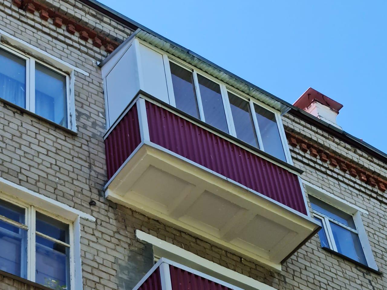 Замер и обшивка балкона ул. Попова 14 - фото