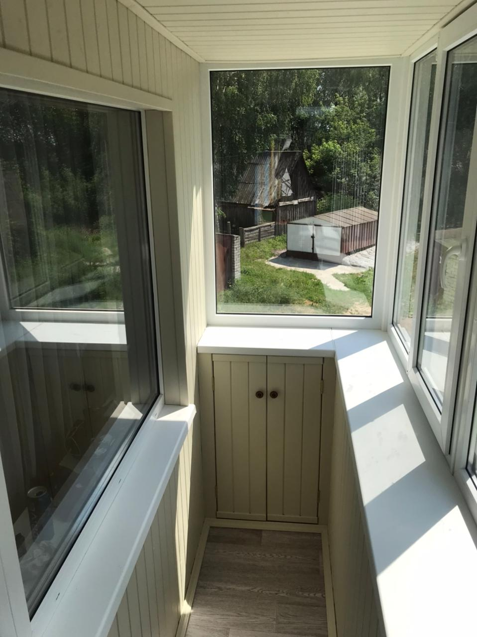 Отделка балкона, остекление, укладка пола в с. Айша, ул. Светлая 10 - фото