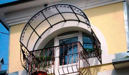 Крыша на балкон - фото
