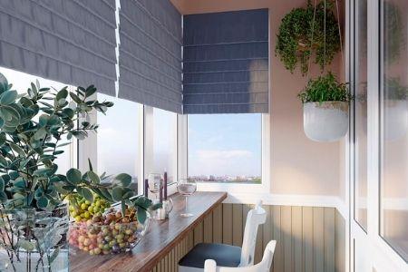 Как оформить окна на балконе - фото