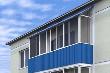 Как сделать крышу на балконе - фото