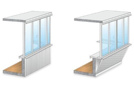 установка крыши на балконе фото