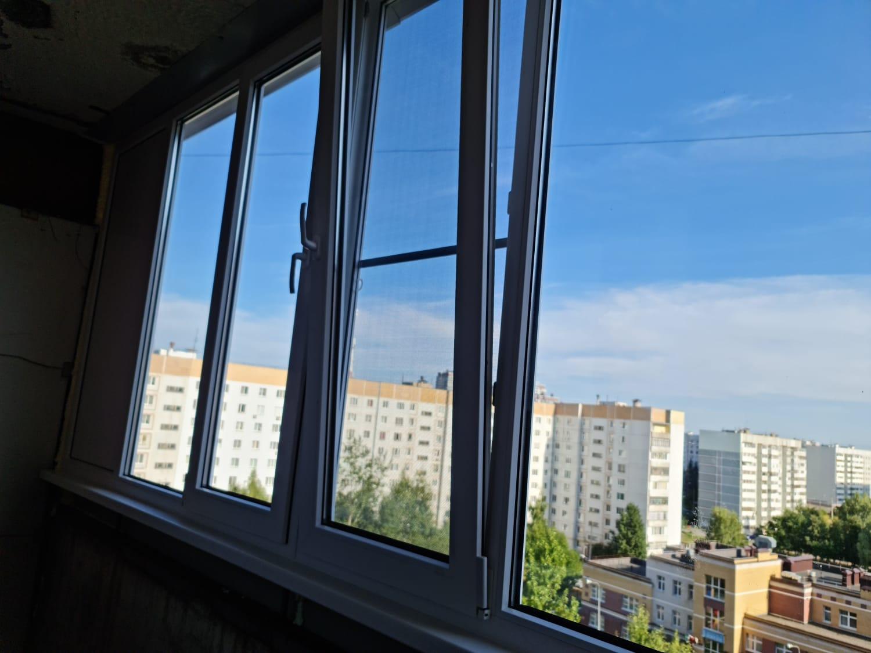 Установка ПВХ окон на балкон ул. Ломжинская 14 - фото