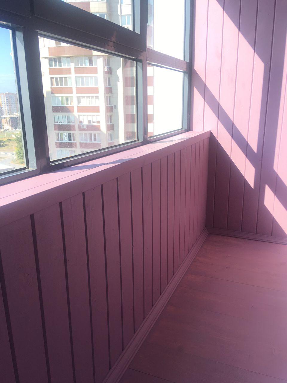 Монтаж и покраска балкона ул. Аделя Кутуя 110Д к. 1 - фото
