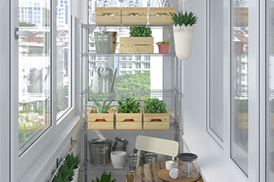 Огород на балконе: что стоит учесть в ремонте - фото