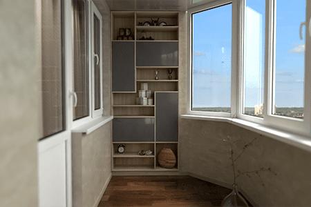 Как сделать шкаф на балконе - фото